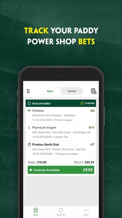 Paddy Power Track My Bet Mobile App