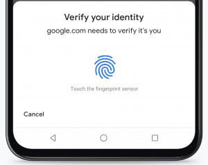 Google pay bookmakers with fingerprint scanner